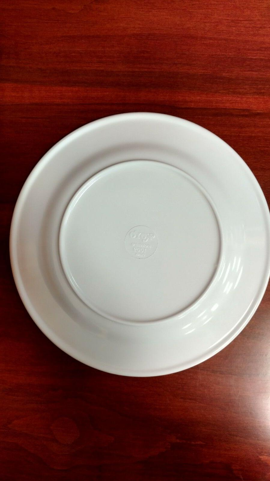 Brand 9 Melamine Dinner Plates Rose Design Shipping