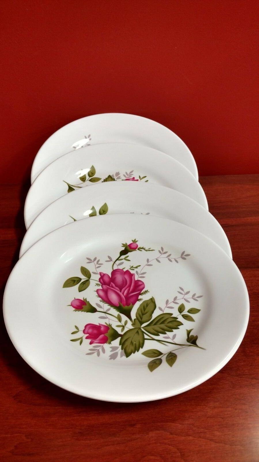 Brand New! inch Melamine Dinner Plates with Rose