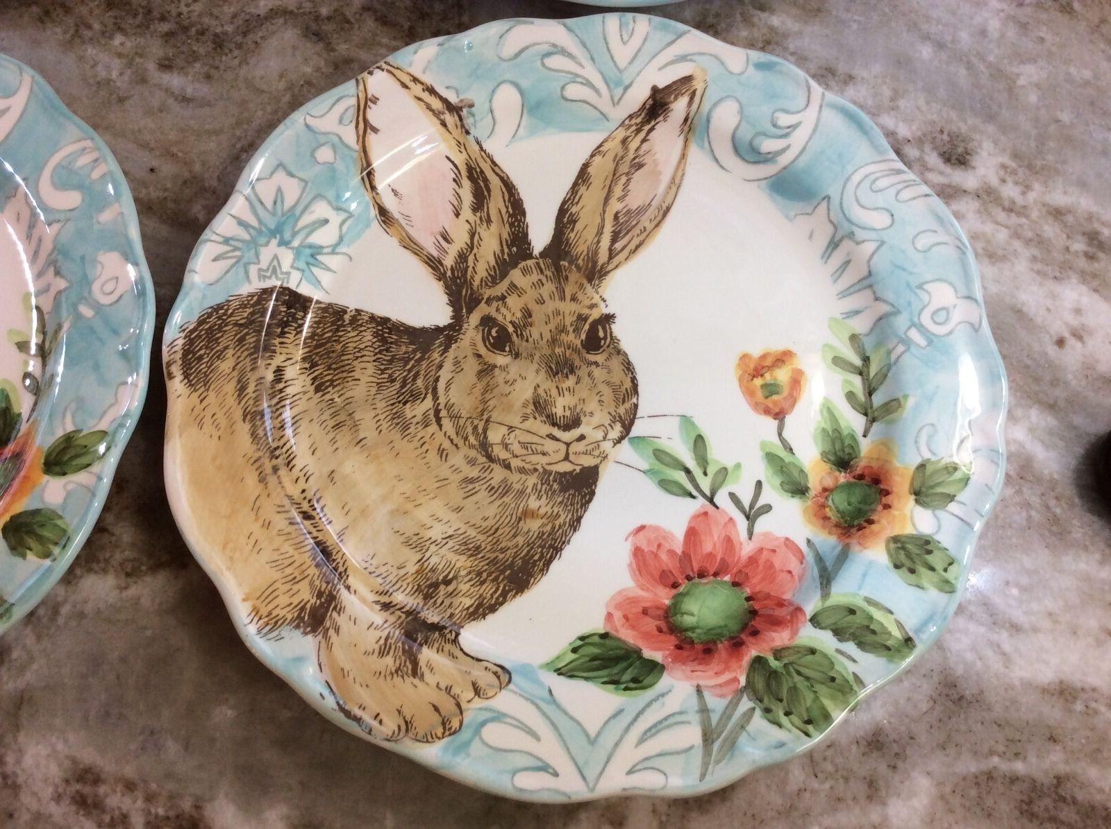 Cottontail Bunny Plates Scalloped Set