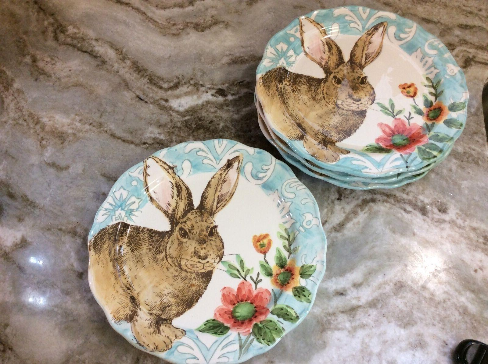 Cottontail Lane Plates Set Of 4. New.
