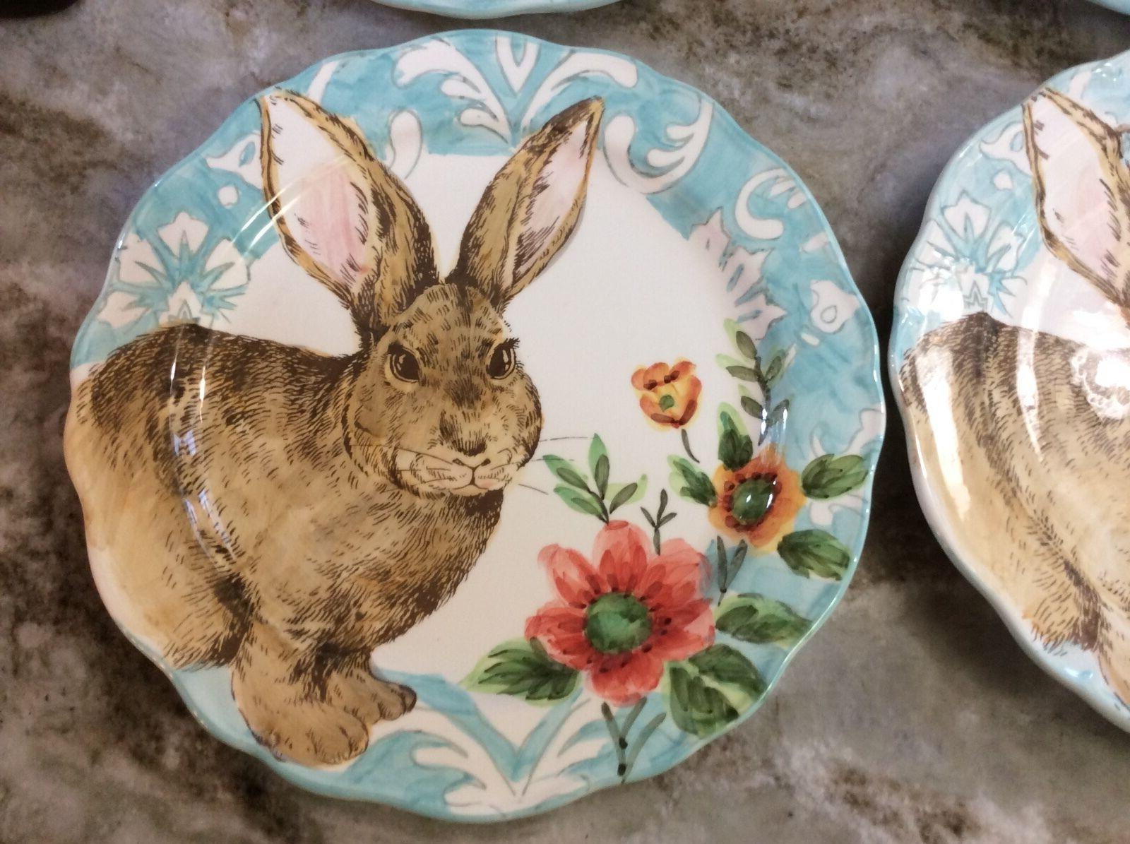 Cottontail Bunny Plates Scalloped