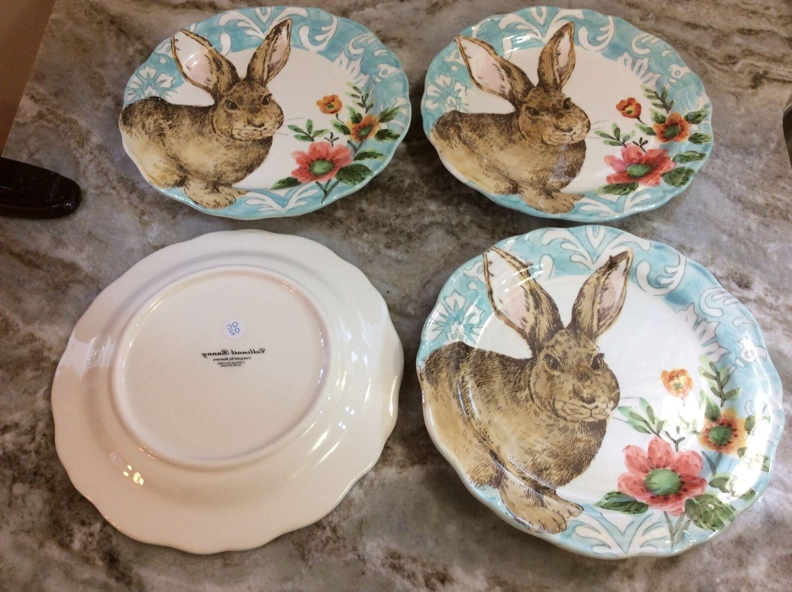 Cottontail Bunny Dinner Plates Set