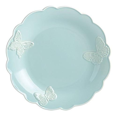 butterfly meadow carved blue dinner