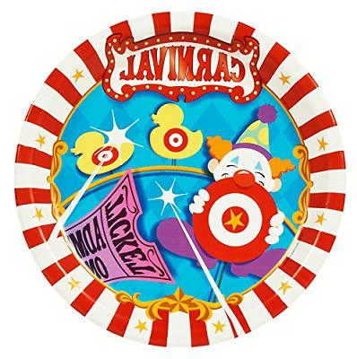 carnival games party supplies dinner plates 8