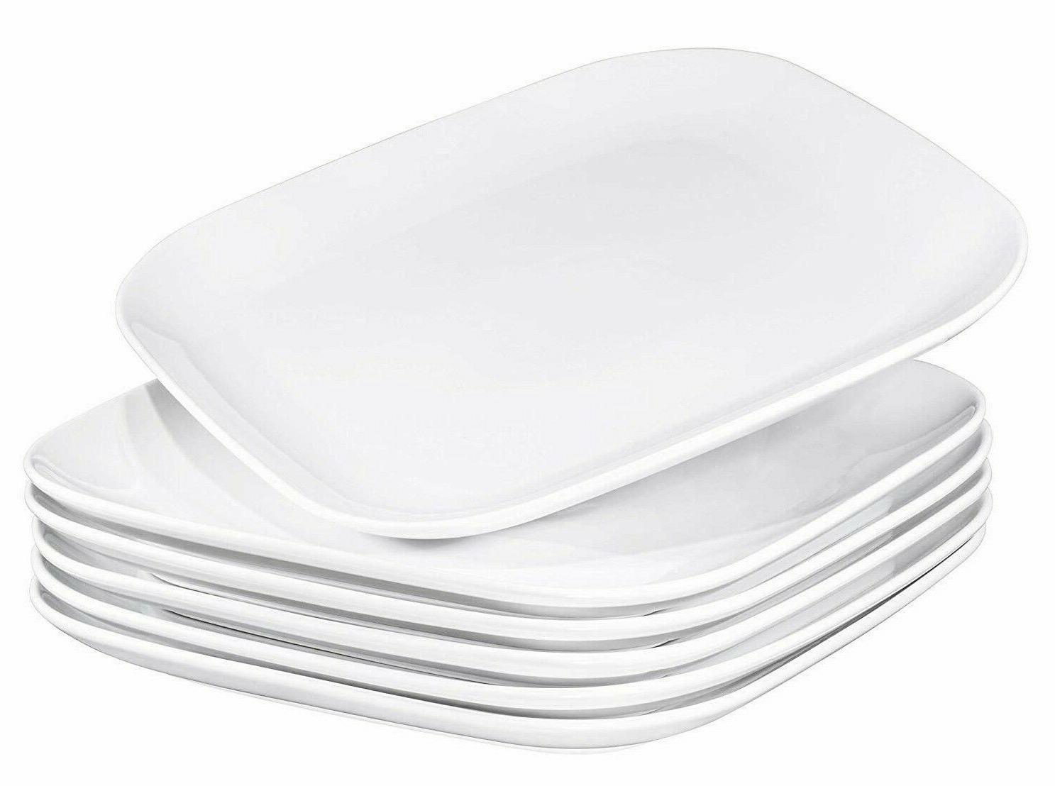 ceramic square dinner plates set of 6