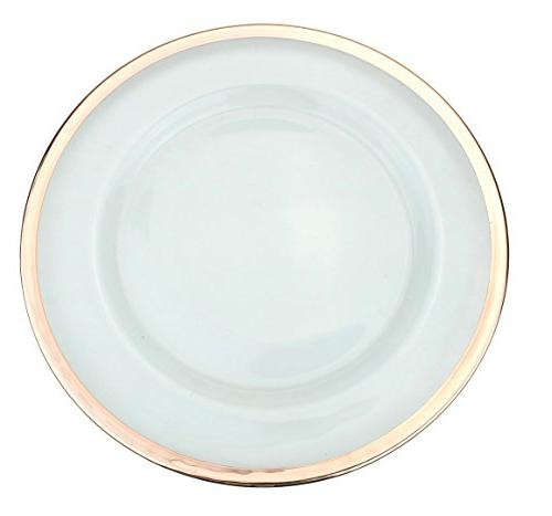 clear glass charger dinner plate