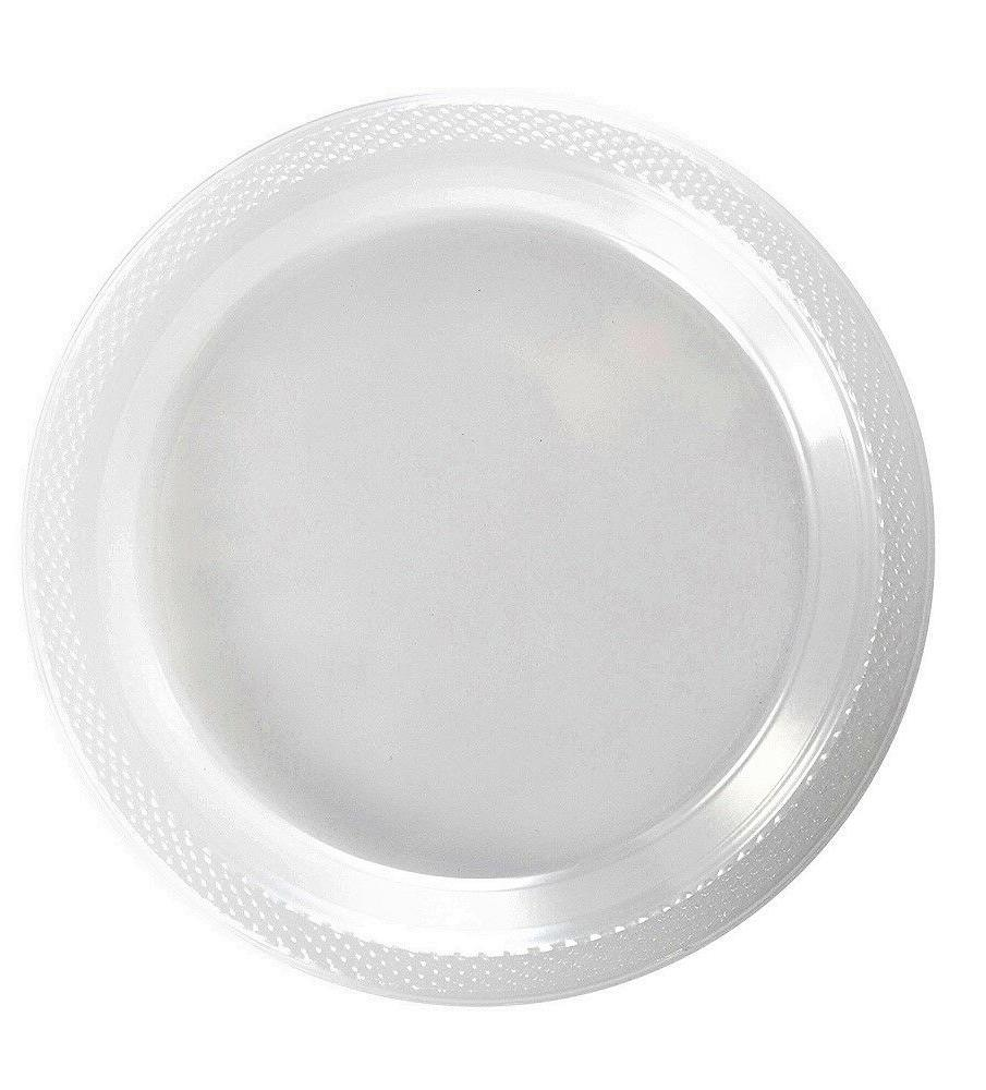 clear plastic disposable plates luncheon dinner party