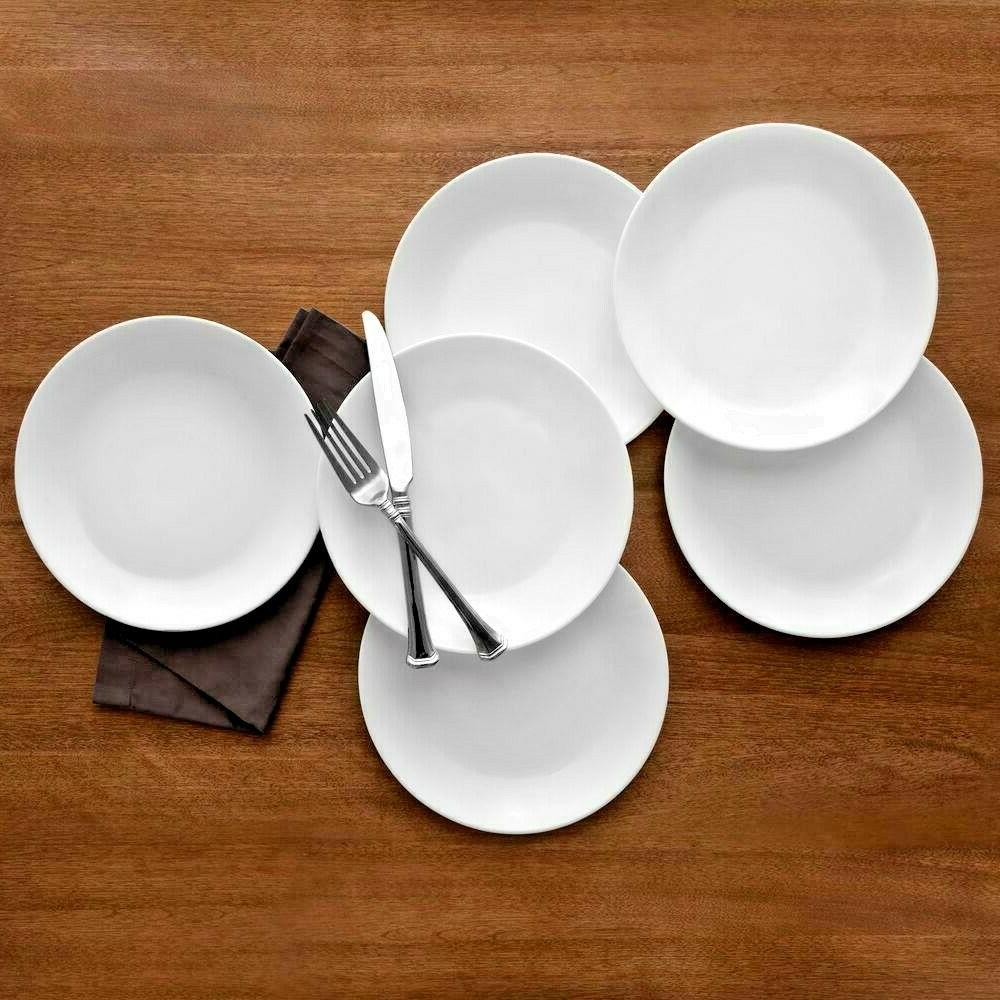 corelle winter frost dinner plates white count