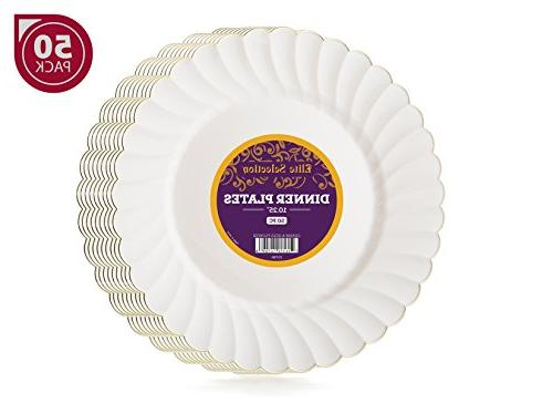 dinner disposable party plastic plates