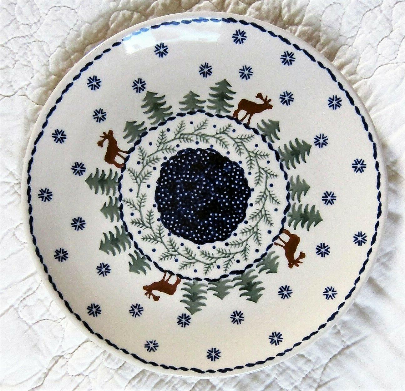 dinner plate 10 christmas tree moose new