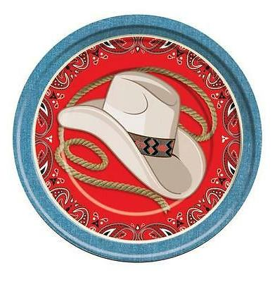 DINNER PLATE  COWBOY WAY OUT WEST BARN DANCE WESTERN THEMED