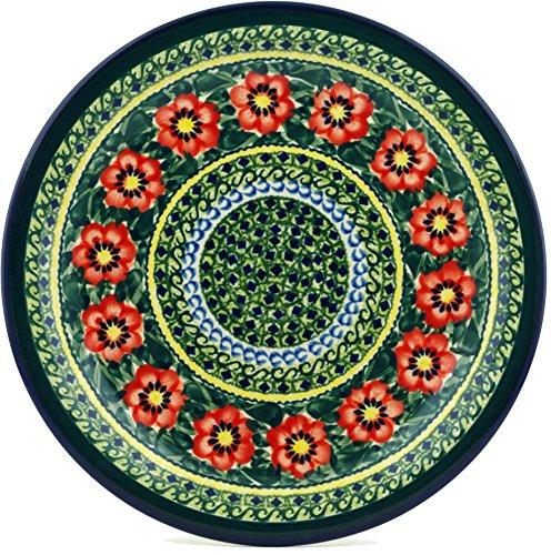 Polish Pottery Plate 11-inch Poppies
