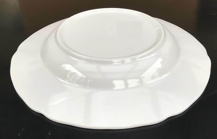 """Dinner Serving Soup Plate 9"""" 10"""" Inches Melamine Wavy Deep Plates"""