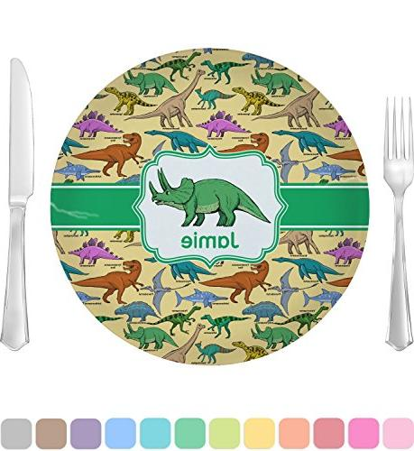 dinosaurs glass lunch dinner plate