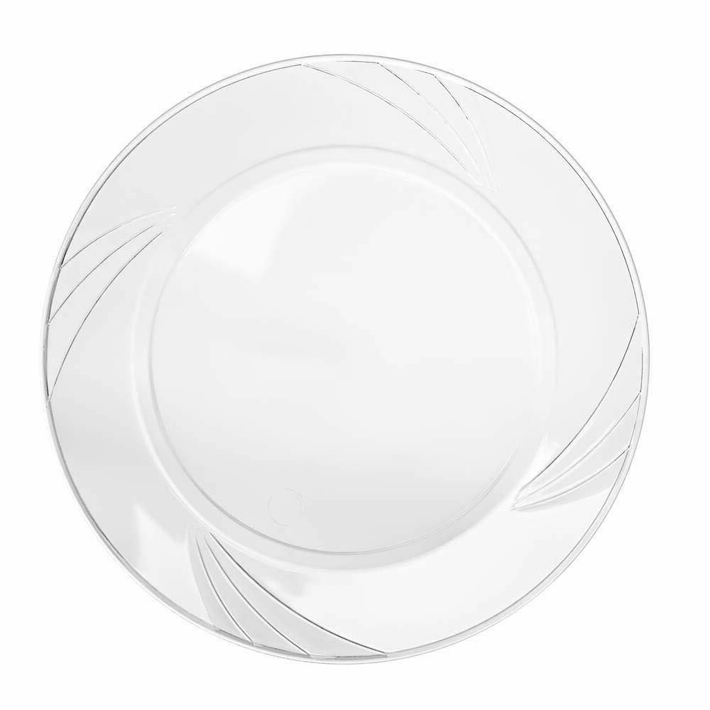 disposable clear plastic plate 100 pack 9