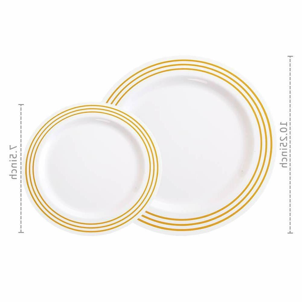 Disposable Plastic Dinner Wedding Party Plate 40 Guest Set