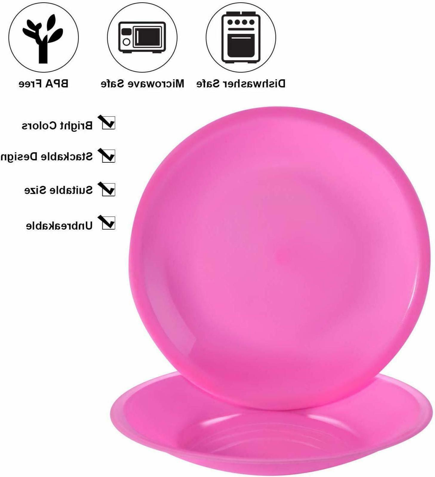 Disposable Reusable Plastic Dinner Plates Safe Holders