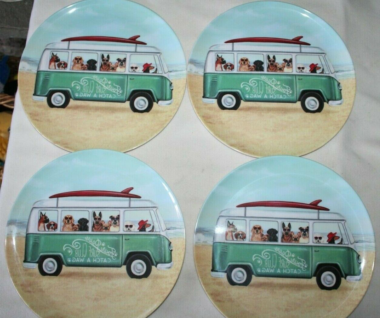 dogs in vw bus summer melamine dinner