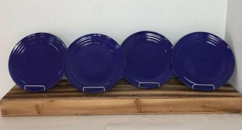 Rachael Ray DOUBLE RIDGE BLUE RASPBERRY Dinner plate set of