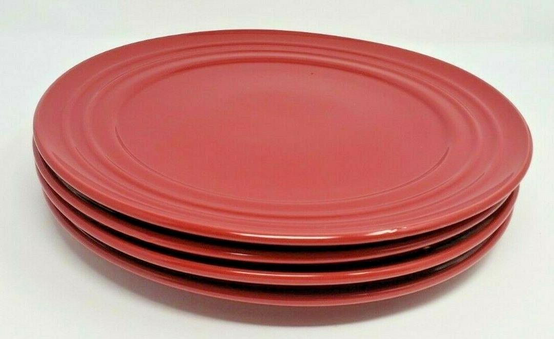 """Rachael Ray Red Dinner Rim Smooth 11"""" of 4"""