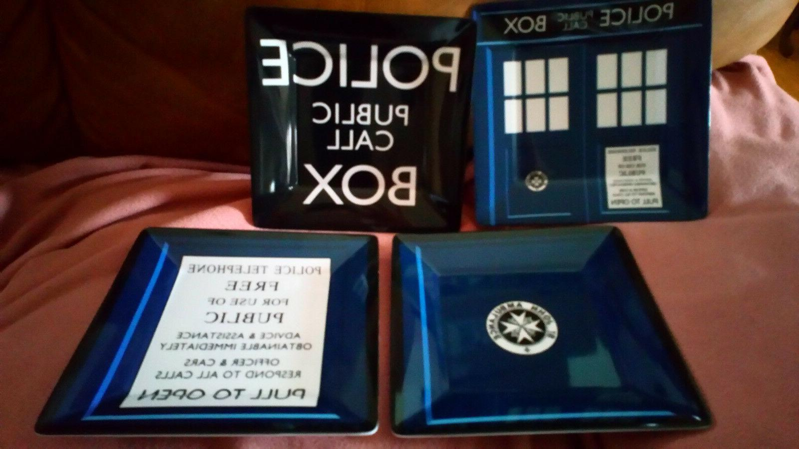 dr who dinner plates 4 set of