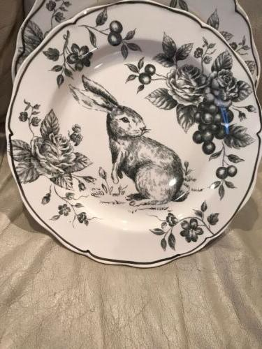 MAXCERA BUNNY 3 FLORAL HOLIDAY CHARCOAL DINNER