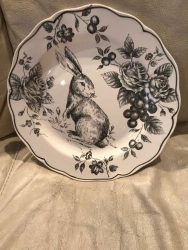 MAXCERA EASTER BUNNY 3 CHARCOAL PLATES DISHES