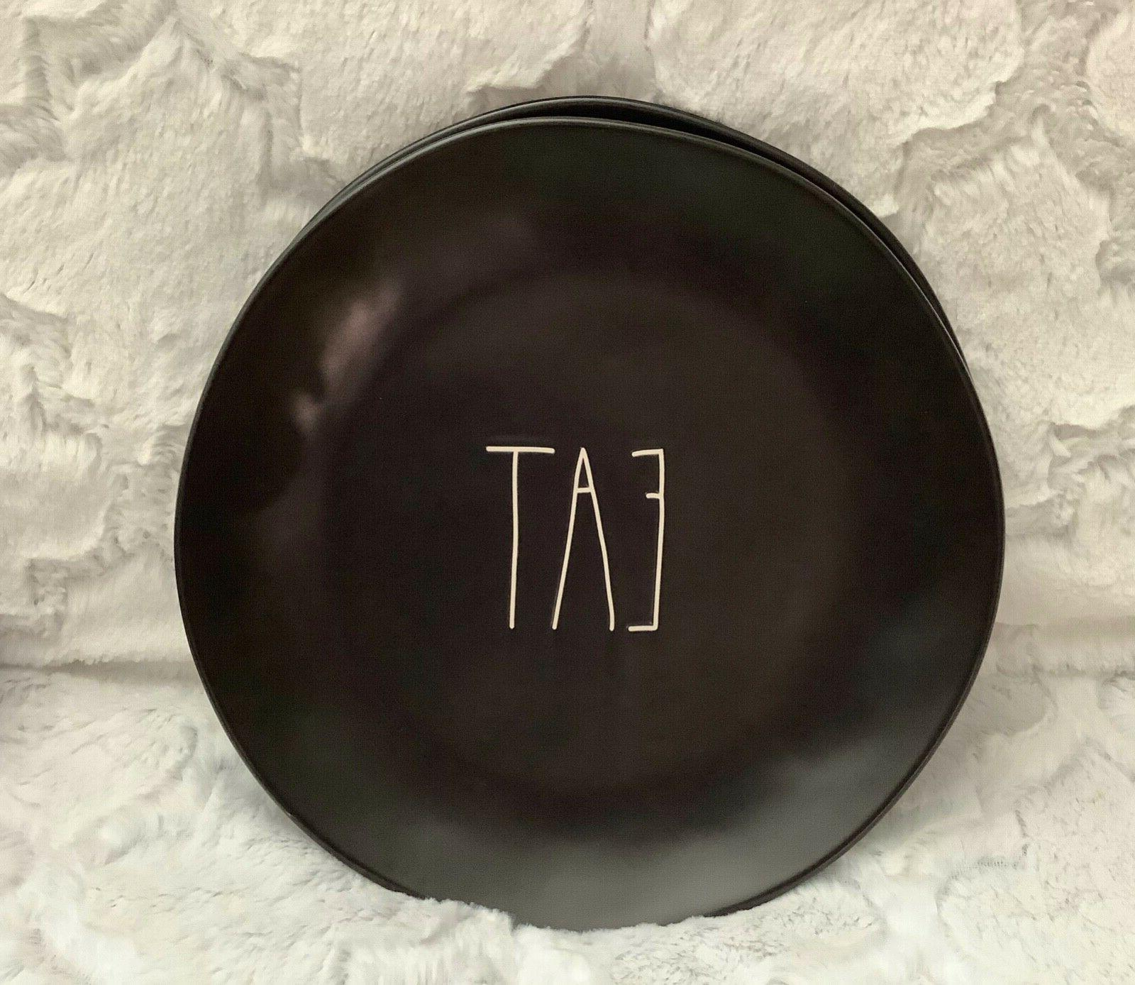eat black 11 matte plates set of