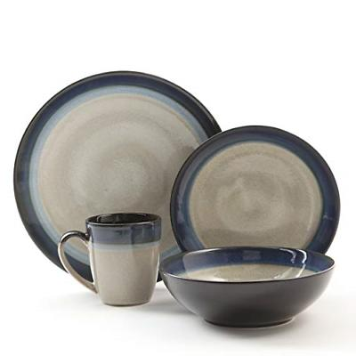 Gibson Elite 91547.16RM Couture Bands 16-Piece Dinnerware Se