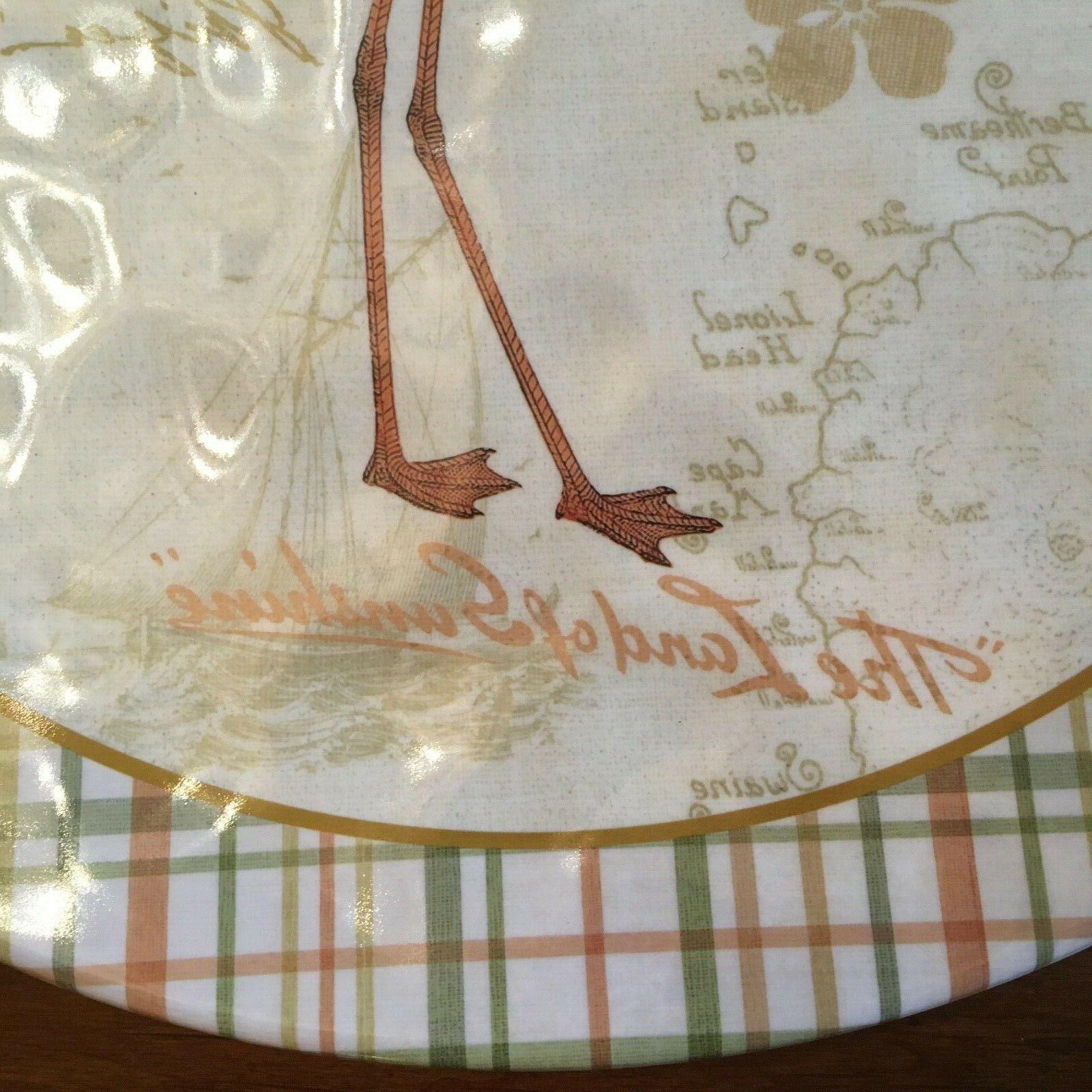 Certified Floridian Dinner Plates 2 NEW