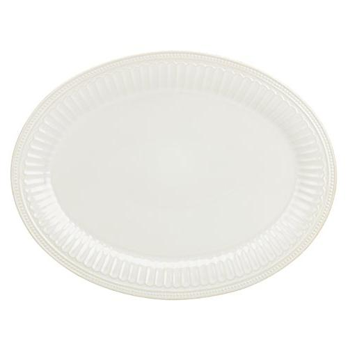 french perle groove oval platter