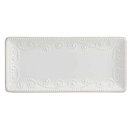 french perle rectangular tray