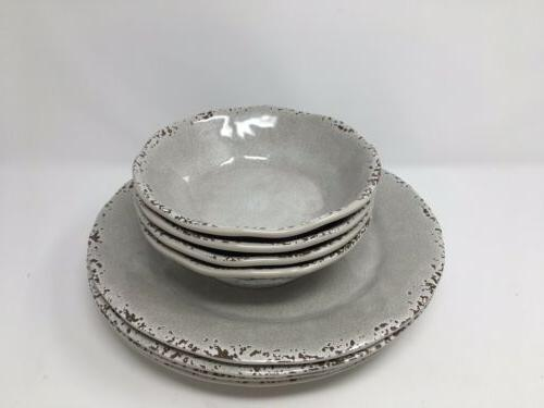TOMMY BAHAMA GRAY Rustic Salad Set of 4 Outdoor