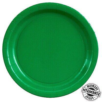green party supplies dinner plate 48 free