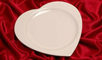 heart shaped dinner plates platters set of