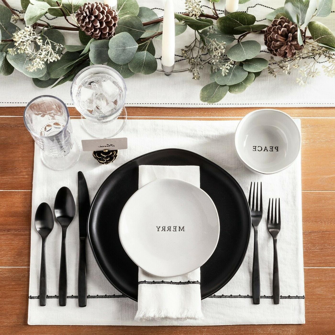 Hearth Black Plates SETs 2 4