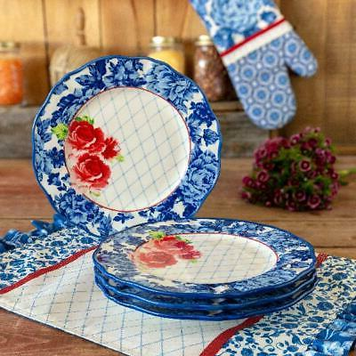 The Pioneer Floral Plates, Set of 4