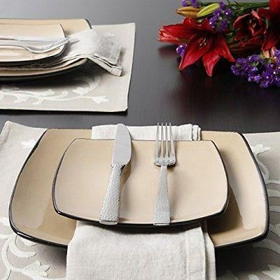 Gibson Home Square 16-Piece Dinnerware