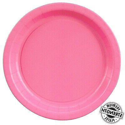 hot pink party supplies dinner plate 48