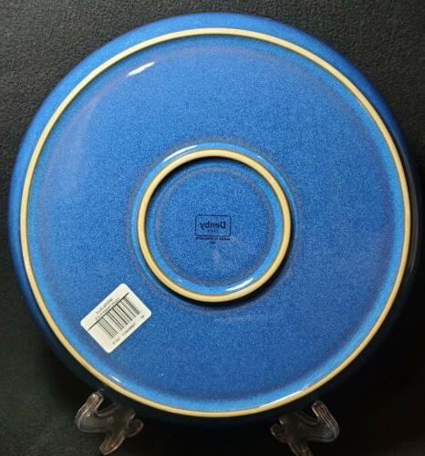 Denby Imperial Blue Dinner Plates NEW! In Fast