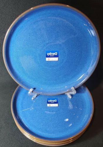 imperial blue coupe dinner plates htf set