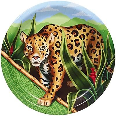 BirthdayExpress Jungle Party Supplies - Dinner Plates 8