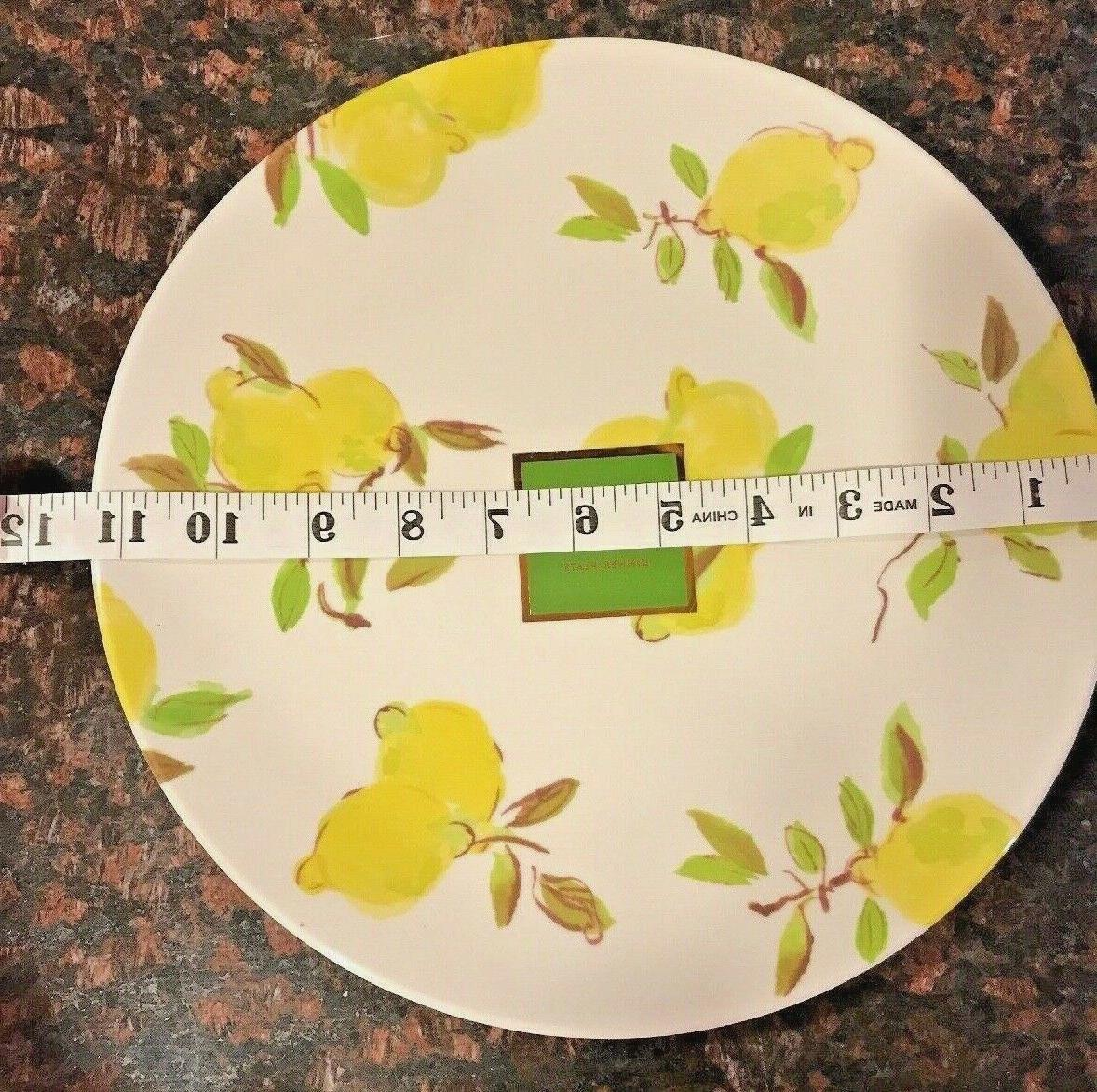 Kate Spade Lemon Dinner Plate Melamine NWT OR