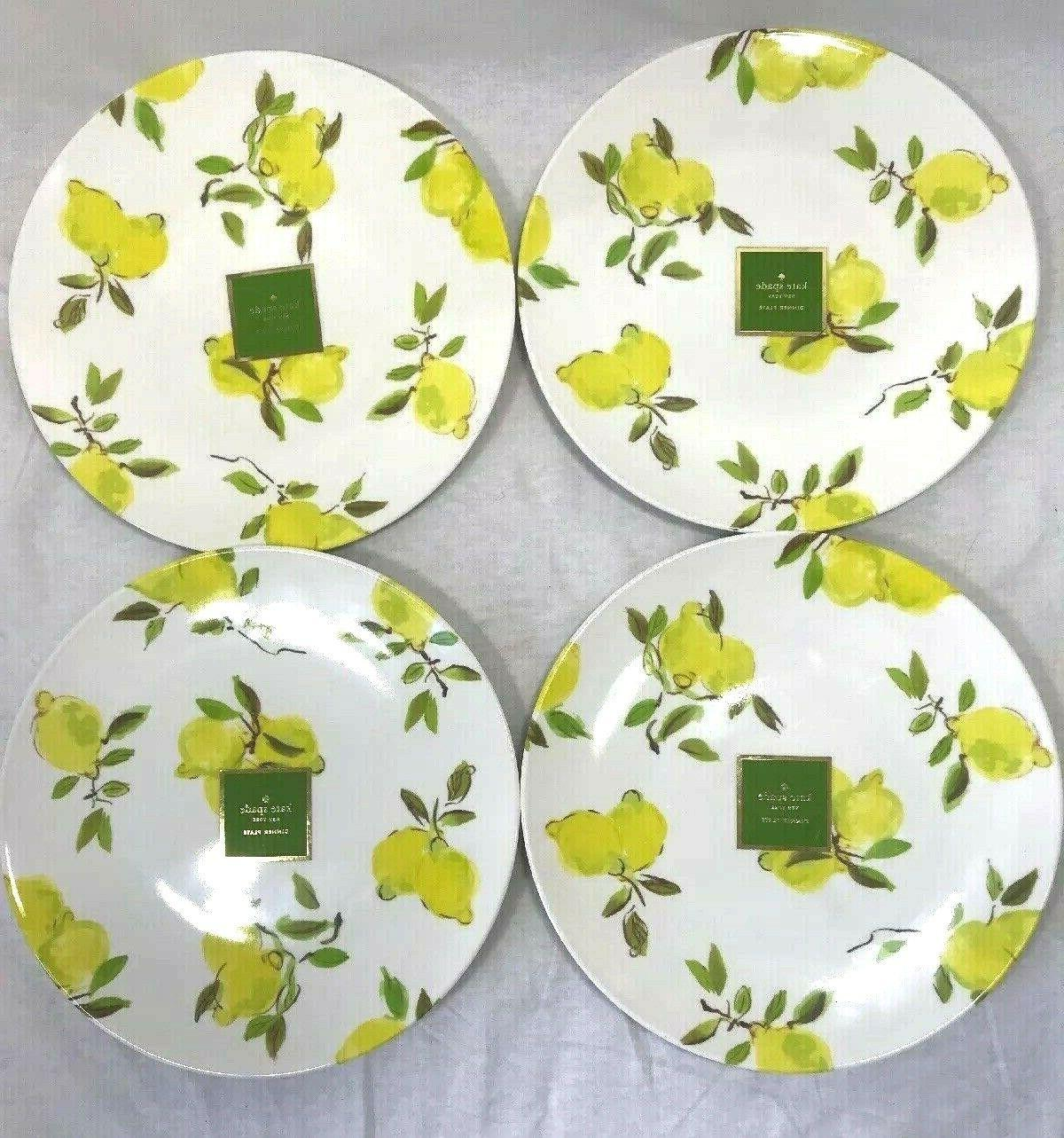 kate spade lemon dinner plate melamine 11