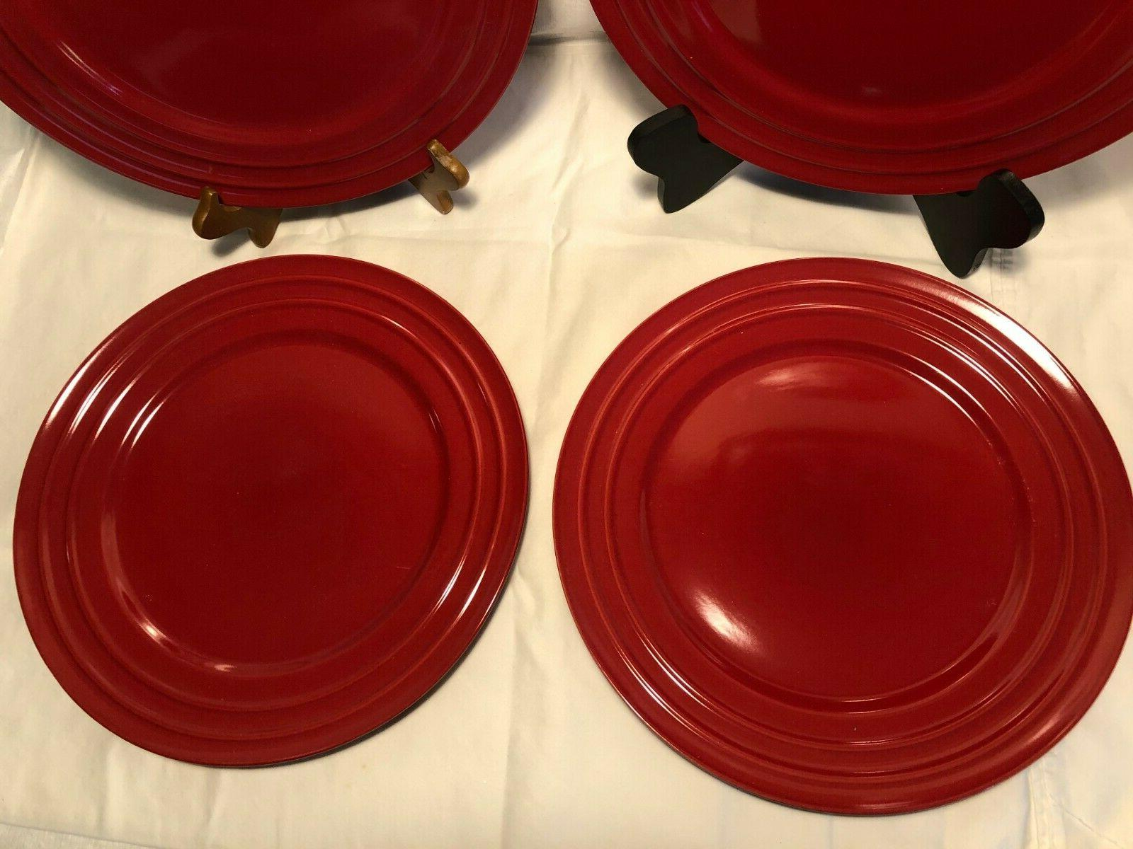 Lot Of Ray Red Plates New!