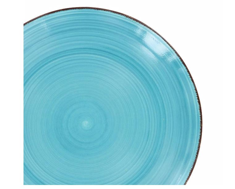 """Lots OF Turquoise Swirl Stoneware 10½"""" New Shipping"""