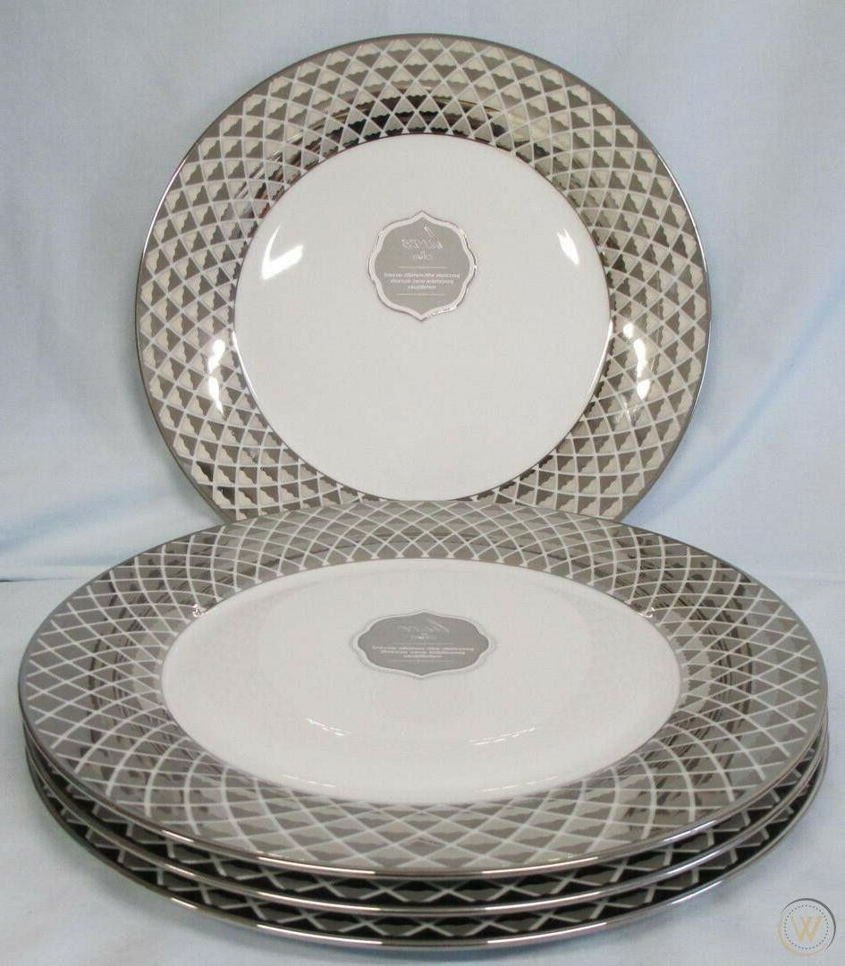 lux lattice dinnerware silver gold cups plates