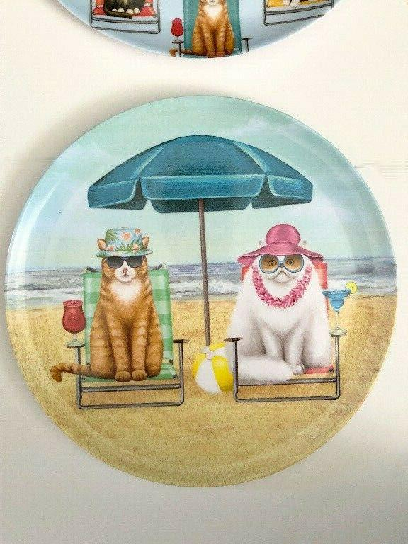 Melamine Dinner Cats at the Set 4 Pattern