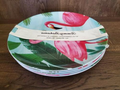 Tommy Bahama Dinner Plates Pink 4pc