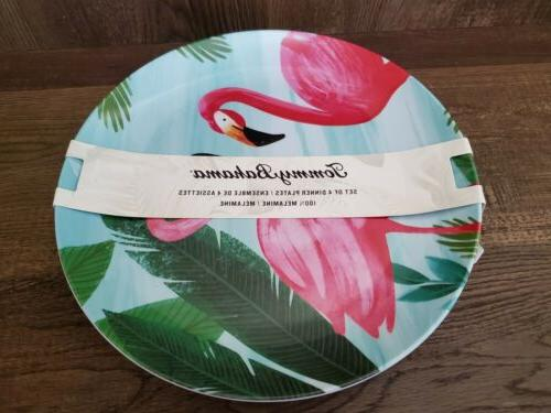 Tommy MELAMINE Plates Tropical 4pc